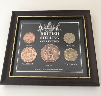 British Sterling Collection Penny 1918 Farthing HalfPenny Sixpence Threepence