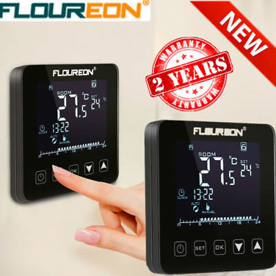 LCD Thermostat Fußbodenheizung Regler Touchscreen Temperatur Thermometer Heizung