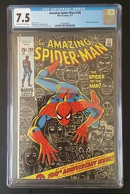 The Amazing Spider-Man #100 CGC 7.5 Anniversary Issue Marvel Comics