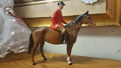 Beswick huntsman  horse vintage  made in England China horse figurine rare AS IS