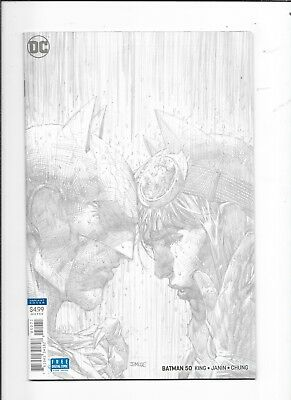 Batman #50 Jim Lee Sketch Variant 1:100 DC Comics (2018)
