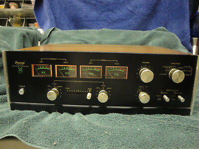 Sansui QS-1 Quadraphonic Synthesizer Can Drive Two Amps + Up To 8 Speakers