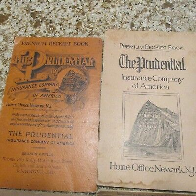 Prudential vintage Premium receipt books
