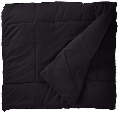 New Sweet Home Collection Goose Down Alternative Comforter, Black, Queen