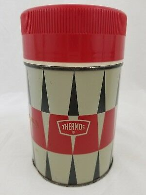 Vintage THERMOS Wide-Mouth BOTTLE No. 6063 10oz.SIZE King-Seeley USA Metal GLASS