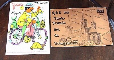 Vintage QSL CB Station Radio Postcards Cards West Germany 8x6inch lot of 2 1970s