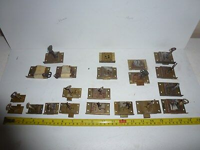 Vintage BRASS LOCK  For Antique Wooden Box or drawer/cabinet with keys job lot