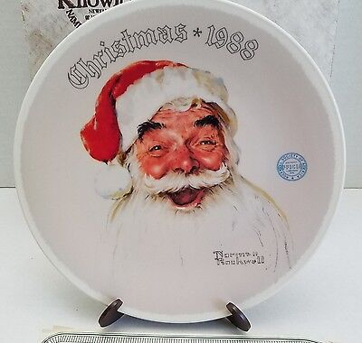 Norman Rockwell Santa Claus Plate Christmas 1988 Edwin Knowles With COA