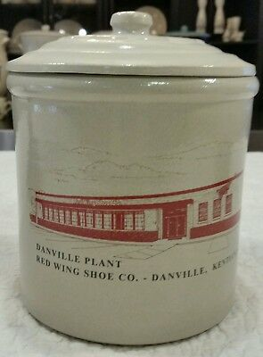 Red Wing Stoneware Co. Cannister for Red Wing Shoe Co. Danville, Ky