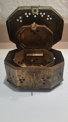 Vintage Solid Brass Ornate Nesting Boxes