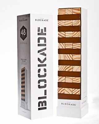 Blockade Game - 48 Pieces by Blockade Large 100% Solid Pine Wood Tower Game