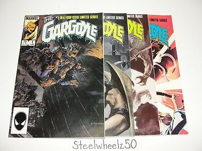 Gargoyle #1-4 Comic Lot Marvel 1985 COMPLETE Defenders Wrightson Dematteis 2 3