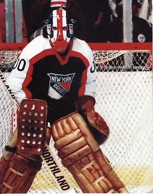John Davidson Ny Rangers Vintage Goalie Nhl Hockey In The Net 8x10