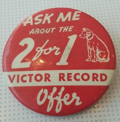 RARE Victor Victrola PROMOTIONAL Pin