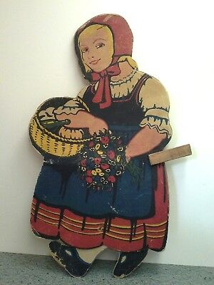 Rare Antique Double Sided Cardboard PAPER WALKER TOY, Germany