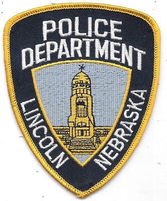 """Police Patch: Police Department Lincoln Nebraska Patch Measures 3 1/2"""" X 4 1/2"""