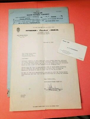 Tucker Automobile Dealer Franchise Agreement and More. 5 ITEMS TOTAL.