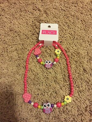 Children's Place Girls a Necklace and Bracelet