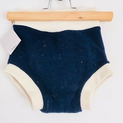 Large/Toddler Blue Upcycled Merino Wool Soaker Diaper Cover -
