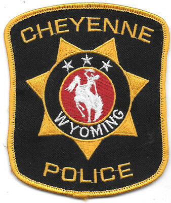 "Police Patch: Cheyenne Wyoming Police Patch Measures 4 1/2"" X 3 1/2"""