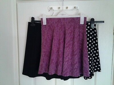 NEW LOOK, F&F, KYLIE Womens/Girls Short Skirt Bundle x 3. 9-10, 13-14yrs Size 12
