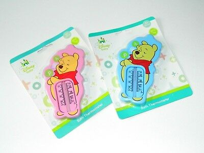 DISNEY, Winnie The Pooh Baby Bath Thermometer available in Blue or Pink