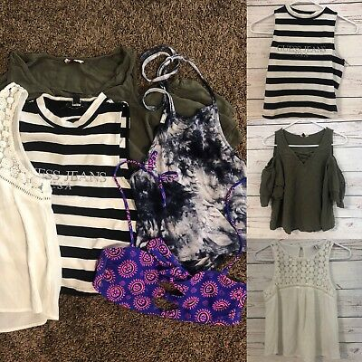 Lot Of 5 Size Small Womens Clothing Boho Forever 21 Pacsun Tillys Bohemian Crop