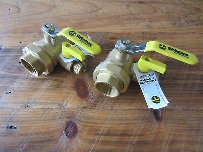 Webstone 50435, qty:  2 Full Forged Brass Ball Valve, NEW