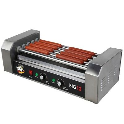 Hot Dog Roller Grill Roller Dog Stainless Countertop Nonstick Dual Temperature