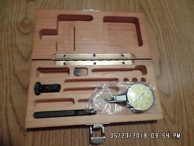 Brown & Sharpe Best test dial indicator with box and Gold color face. #7033-13