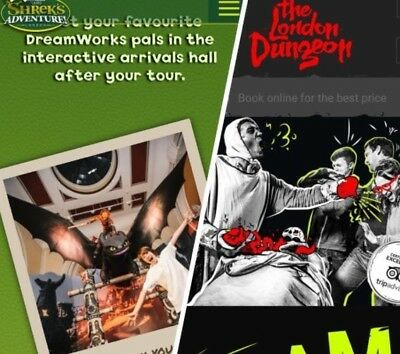 The Sun Shrek Or The London Dungeons 2 Etickets (You Pick Your Date And Time)