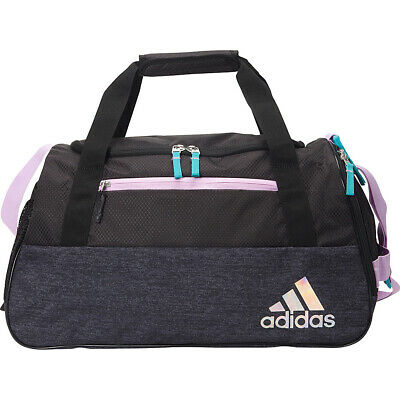 5f0b787d93 ADIDAS SQUAD III Duffel Women Shock Pink Macro Heather Black Gym bag ...