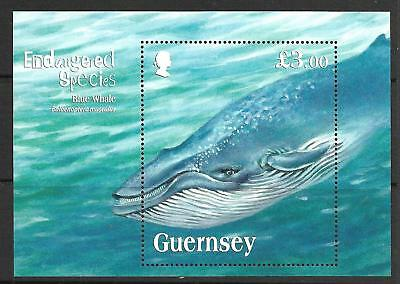 GUERNSEY 2011 ENDANGERED SPECIES (7th SERIES) BLUE WHALE SG M/S 1368 MNH.