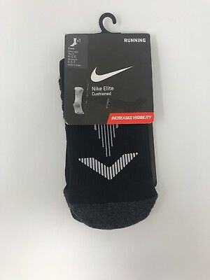 Nike Elite Cushioned Crew Unisex Running Socks Men's Size: 4-5.5 New