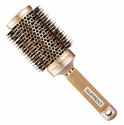 [Upgraded] SUPRENT Nano Thermal Ceramic  Ionic Round Barrel Hair Brush with Boar