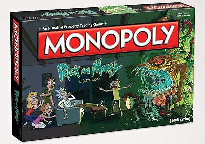 Adult Swim Rick and Morty Edition Monopoly Board Game - 6 Token Player Pieces