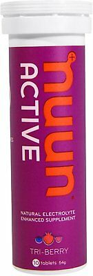 Nuun Active Natural Electrolyte Enhanced Energy, 10 tablets Tri-Berry 1 pack