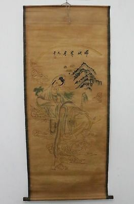 Old Collection Scroll Chinese Painting /Chang'e  Painting ZH1040