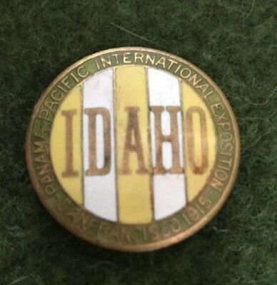 Incredible souvenir enamel Badge/pin  PPIE 1915 Panama Pacific Expo- Idaho.