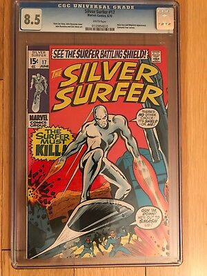 Silver Surfer 17 Cgc Vf+ 8.5Nick Fury Mephisto Appearance - White Pages