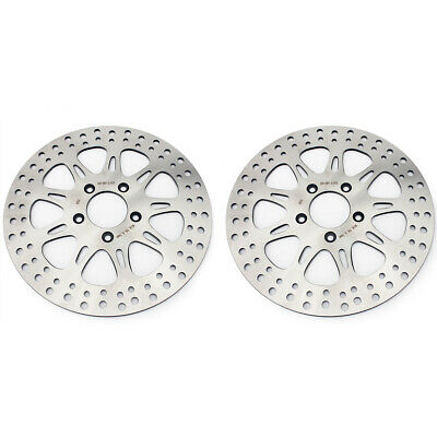 2pcs Front Brake Discs Rotors For Harley Electra Glide FLHT Road King FLHR 00-06