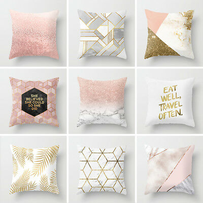 Geometric Printed Throw Pillow Case Polyester Cushion Cover Sofa Home Decoration