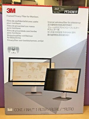 3M  Framed  Privacy  Filter  for  Monitors  PF240W1F 24""