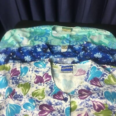 Womens Hospital Or Medical Scrubs Lot of 3 large B409