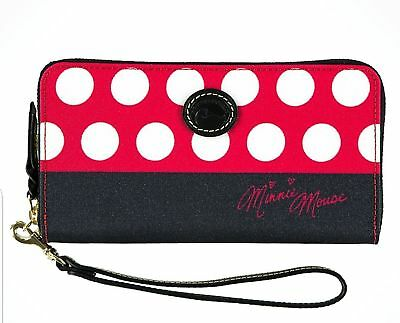 Disney Dooney & Bourke Minnie Mouse Rocks the Dots Wallet NEW NO TAGS