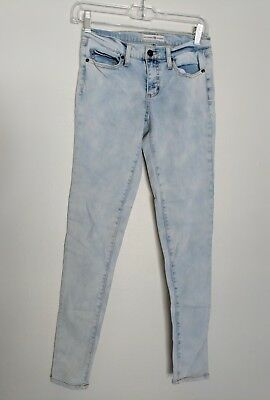 Altar'd State Size 25 Acid Washed Light Wash High Waisted Skinny Straight Jeans