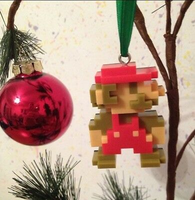 Nintendo Super Mario Brothers Christmas Ornament 8 Bit Mario Custom Made Vintage