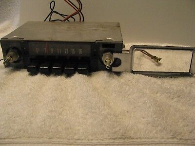 NOS Oliver/White AM Radio with Face Plate and Instructions