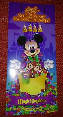 2018 Disney Parks Mickey's Not So Scary Halloween Party Guide Map Brand New
