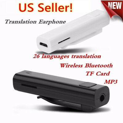 US Smart Multi-Language Translator Instant Voice Traducteur 26 Language Black